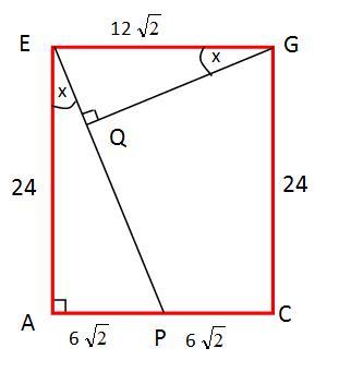 bidang diagonal acge