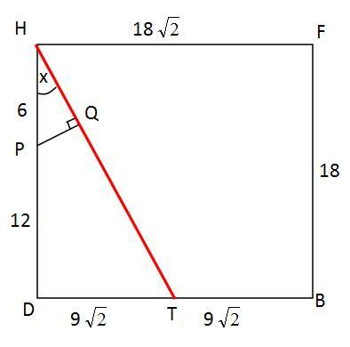 bidang diagonal bdhf