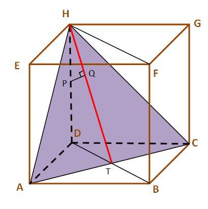 kubus jarak titik ke bidang